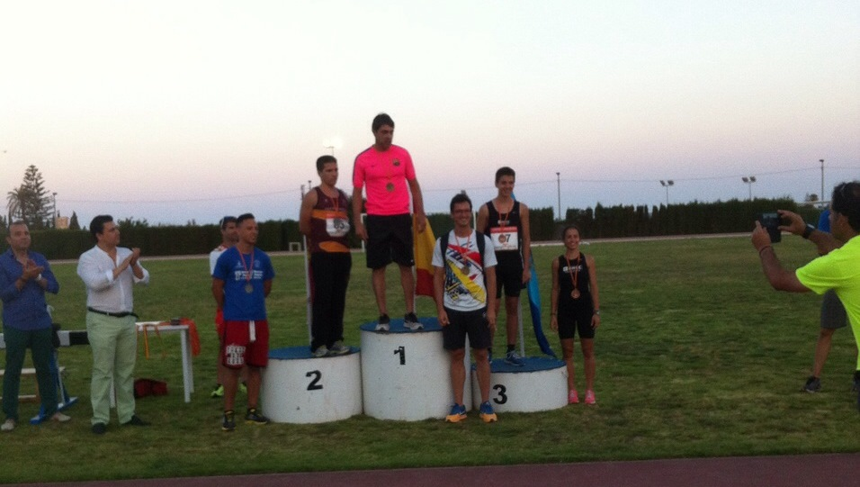 Image of Xavi Porras first in podium Long Jump Spain Championship in San Javier